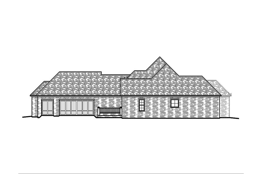 Home Plan Right Elevation of this 4-Bedroom,2882 Sq Ft Plan -197-1005