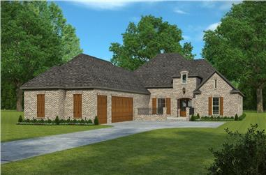 4-Bedroom, 2882 Sq Ft Acadian House Plan - 197-1005 - Front Exterior