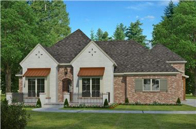 4-Bedroom, 3245 Sq Ft French House Plan - 197-1007 - Front Exterior