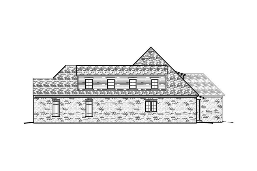 Home Plan Right Elevation of this 4-Bedroom,3453 Sq Ft Plan -197-1008