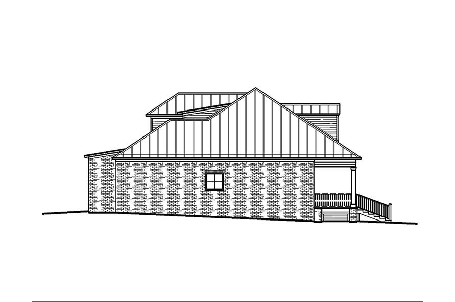 197-1009: Home Plan Left Elevation