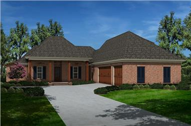 4-Bedroom, 2651 Sq Ft French House Plan - 197-1010 - Front Exterior