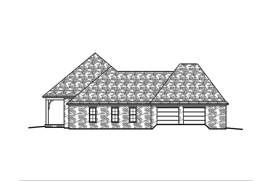 Home Plan Right Elevation of this 4-Bedroom,2593 Sq Ft Plan -197-1011