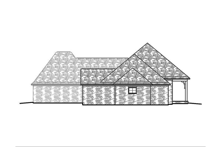 Home Plan Left Elevation of this 4-Bedroom,2593 Sq Ft Plan -197-1011
