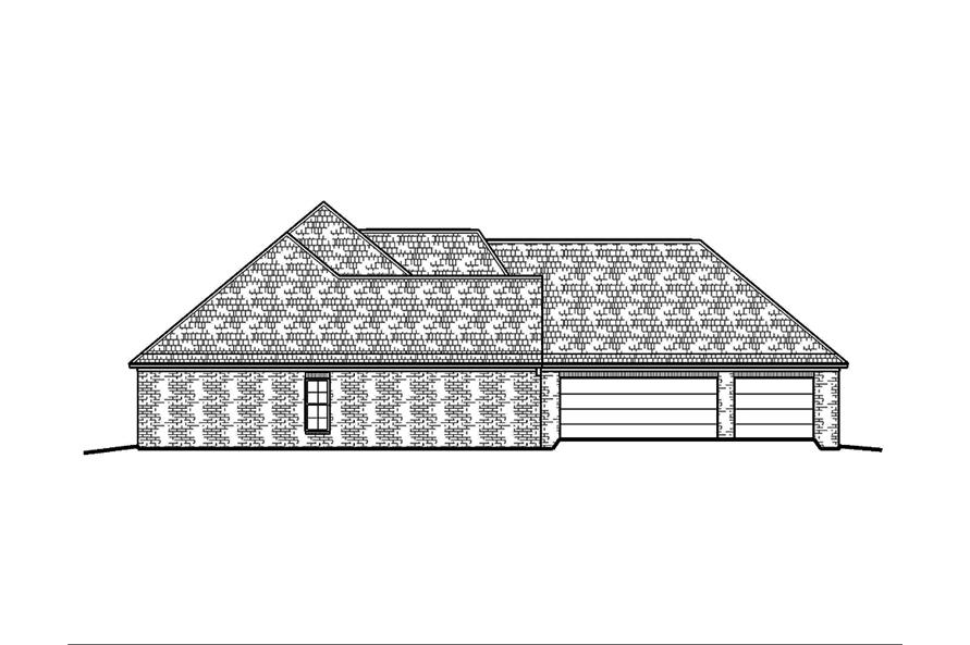 Home Plan Left Elevation of this 4-Bedroom,2247 Sq Ft Plan -197-1012