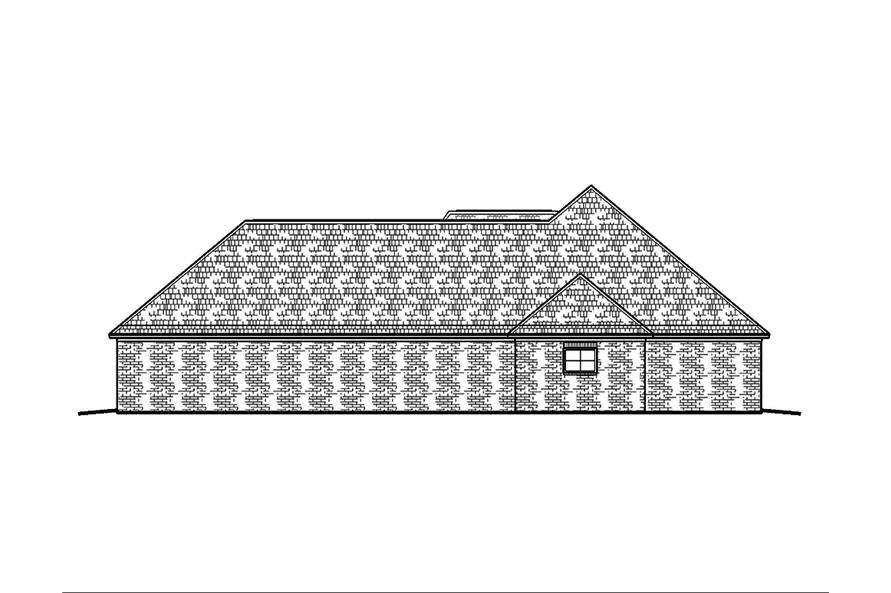 Home Plan Right Elevation of this 4-Bedroom,2247 Sq Ft Plan -197-1012