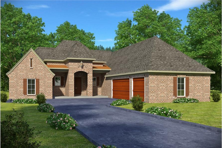 4-Bedroom, 2247 Sq Ft French House Plan - 197-1012 - Front Exterior