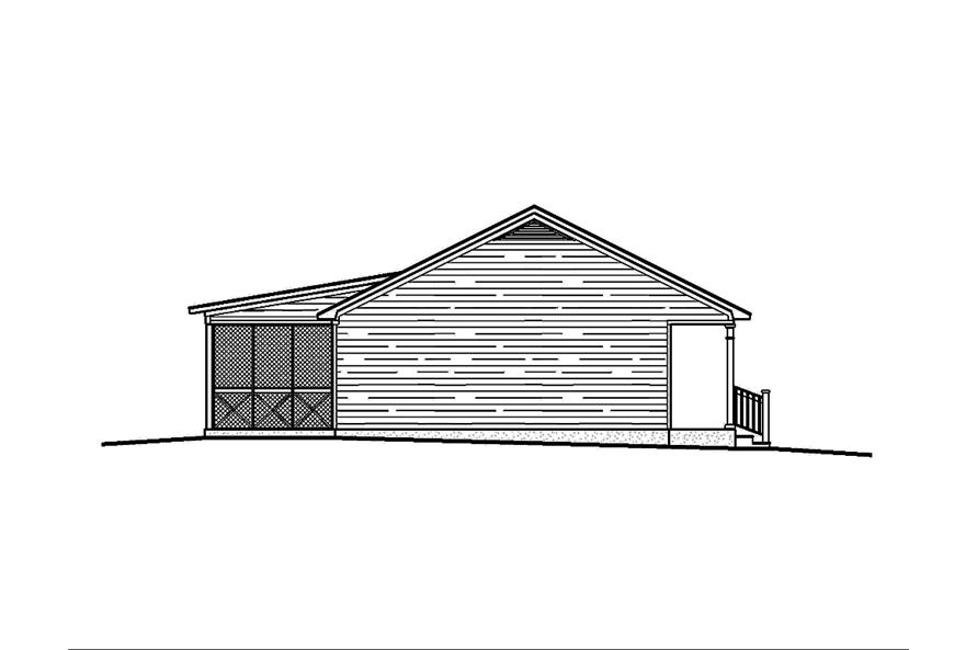 Home Plan Left Elevation of this 3-Bedroom,1473 Sq Ft Plan -197-1014