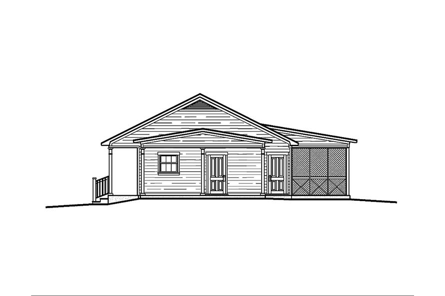 Home Plan Right Elevation of this 3-Bedroom,1473 Sq Ft Plan -197-1014