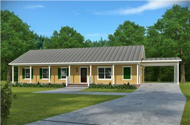 3-Bedroom, 1473 Sq Ft Craftsman House Plan - 197-1014 - Front Exterior