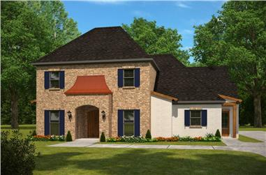 4-Bedroom, 3447 Sq Ft French Home Plan - 197-1015 - Main Exterior