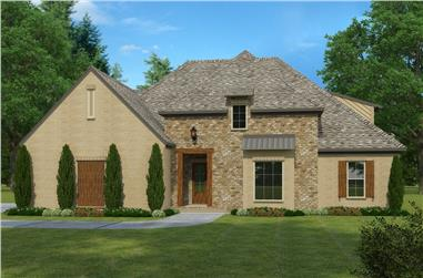 4-Bedroom, 3490 Sq Ft French Home Plan - 197-1016 - Main Exterior
