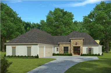 4-Bedroom, 2443 Sq Ft French House Plan - 197-1017 - Front Exterior