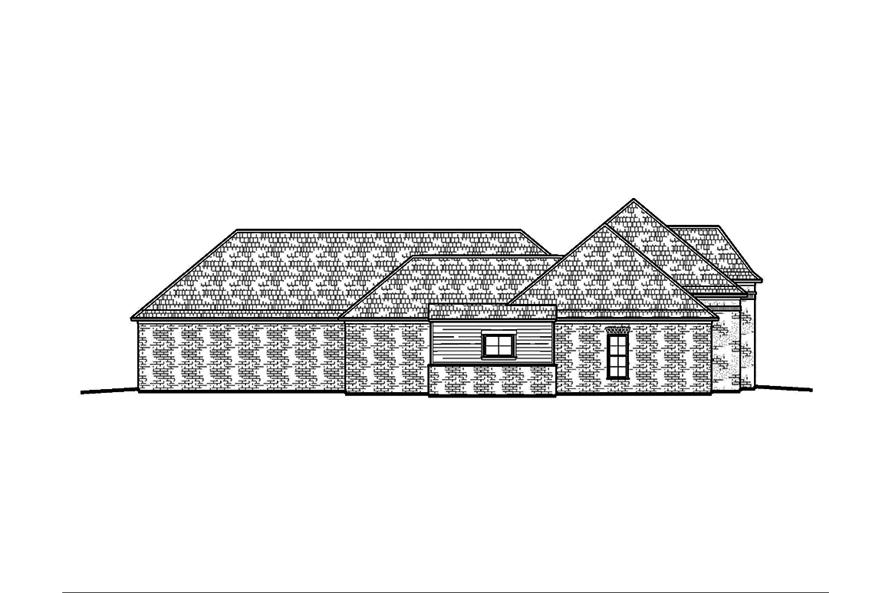 Home Plan Left Elevation of this 4-Bedroom,2460 Sq Ft Plan -197-1018