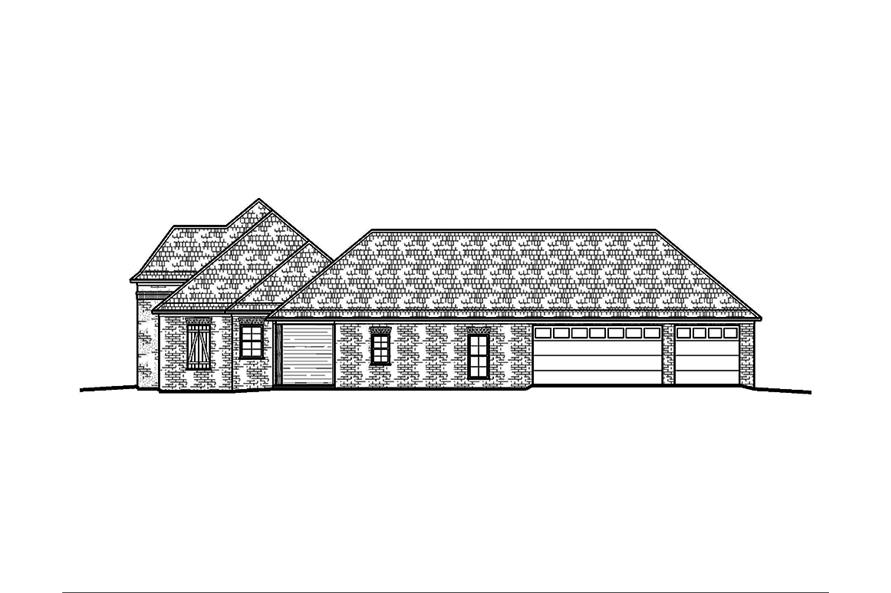 Home Plan Right Elevation of this 4-Bedroom,2460 Sq Ft Plan -197-1018