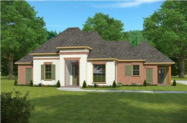 4-Bedroom, 2460 Sq Ft French House Plan - 197-1018 - Front Exterior