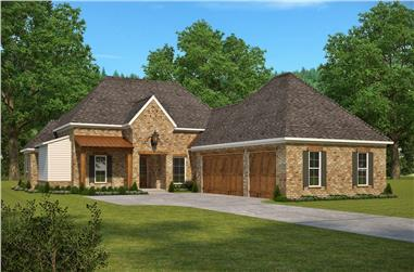 4-Bedroom, 2920 Sq Ft French House Plan - 197-1019 - Front Exterior