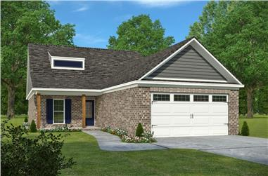 3-Bedroom, 1621 Sq Ft Country House Plan - 197-1021 - Front Exterior