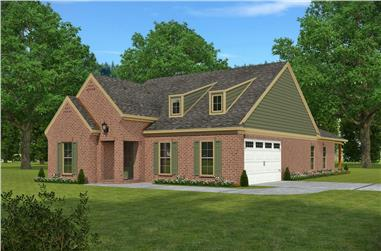 3-Bedroom, 1768 Sq Ft Country Home Plan - 197-1022 - Main Exterior