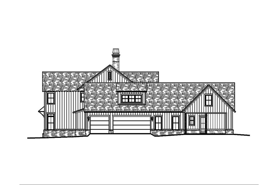 Home Plan Right Elevation of this 5-Bedroom,3775 Sq Ft Plan -197-1023