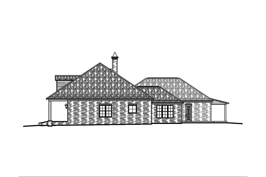 Home Plan Right Elevation of this 3-Bedroom,2964 Sq Ft Plan -197-1024