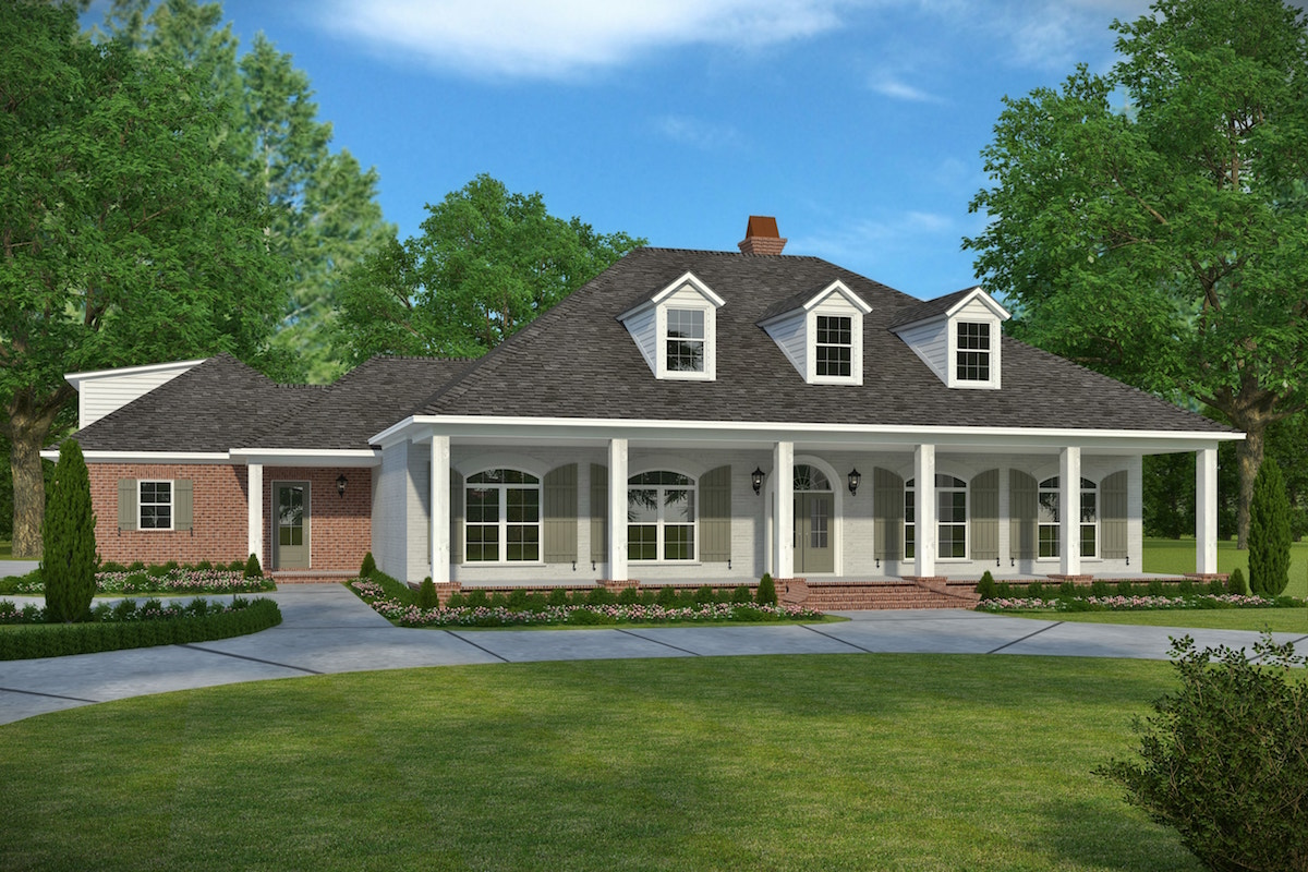 3 bedrm  2964 sq ft acadian house plan  197