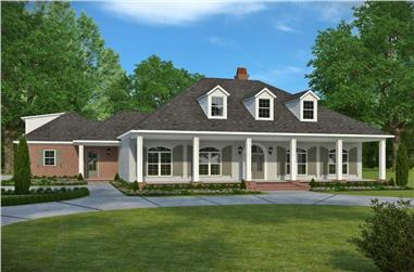 3-Bedroom, 2964 Sq Ft Acadian Home Plan - 197-1024 - Main Exterior