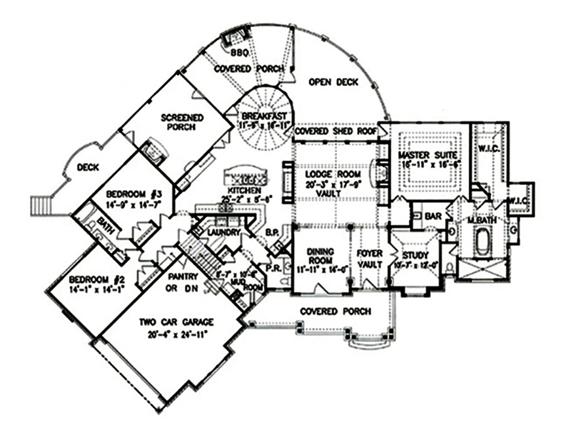 Ranch home plan 3 bedrms 2 5 baths 3126 sq ft 198 1000 for 1000 sq ft house plans first floor