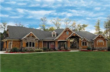 3-Bedroom, 3126 Sq Ft Craftsman Home Plan - 198-1001 - Main Exterior