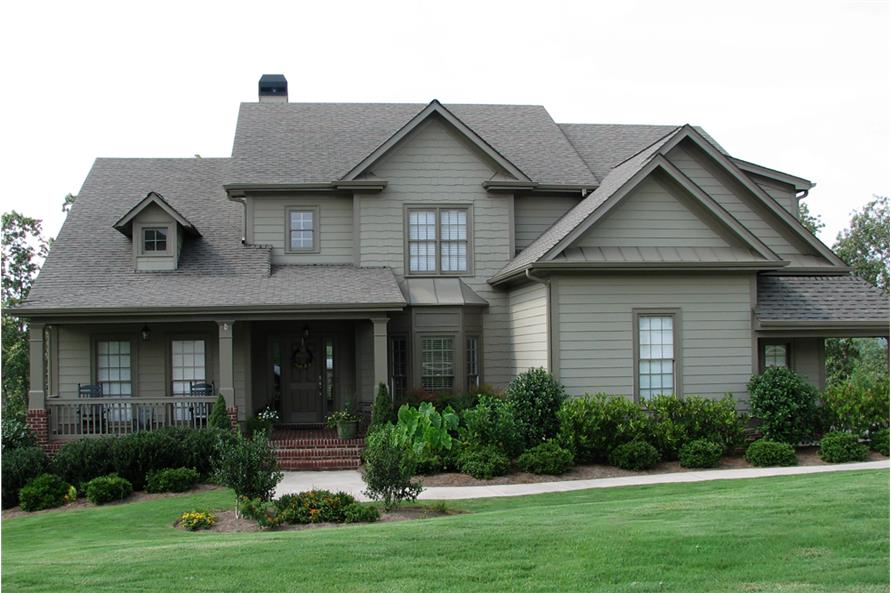 5-Bedroom, 2994 Sq Ft Traditional Home Plan - 198-1007 - Main Exterior