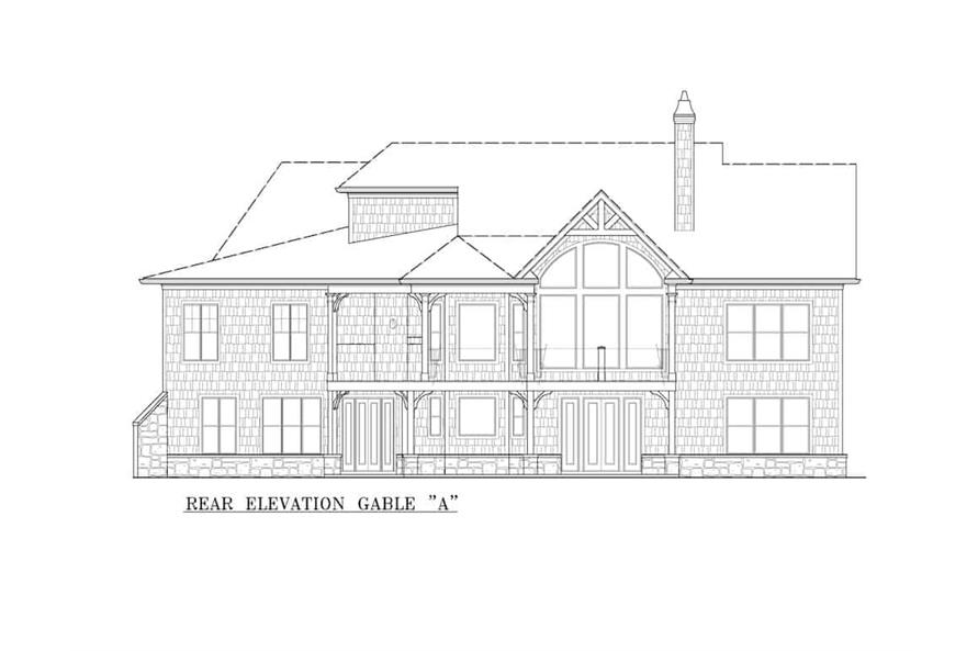 Home Plan Rear Elevation of this 3-Bedroom,1729 Sq Ft Plan -198-1008