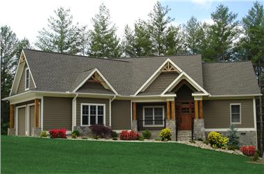 3-Bedroom, 1729 Sq Ft Cottage Home Plan - 198-1008 - Main Exterior