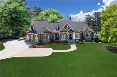 3-Bedroom, 3999 Sq Ft Luxury Craftsman Home - Plan #198-1011 - Main Exterior