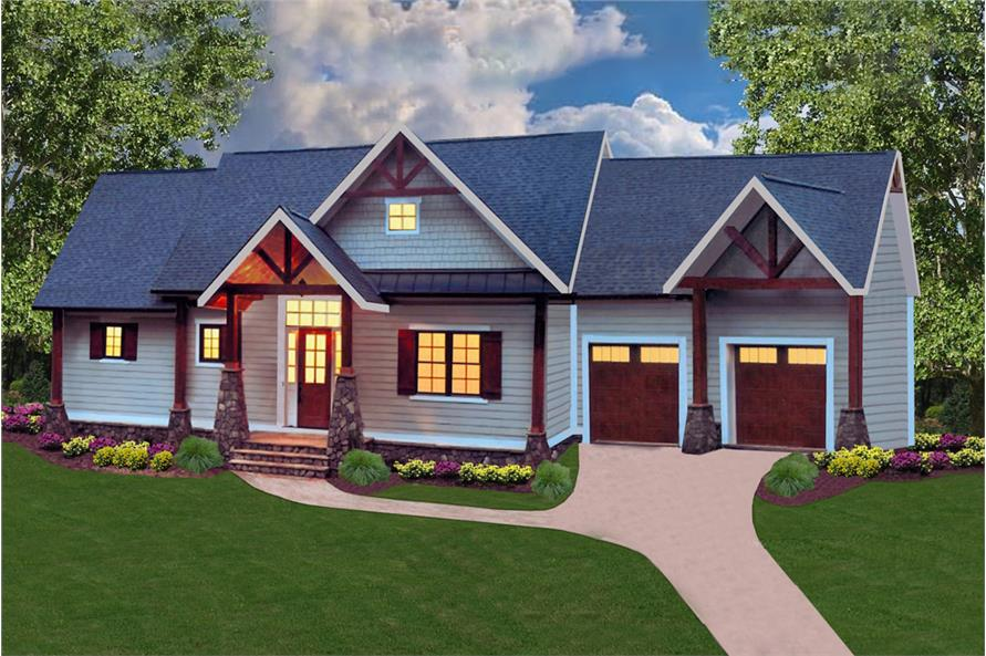 Home Plan Rendering of this 4-Bedroom,2510 Sq Ft Plan -198-1012