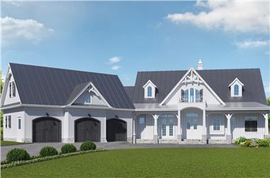 3-Bedroom, 2947 Sq Ft Cottage Home - Plan #198-1017 - Main Exterior
