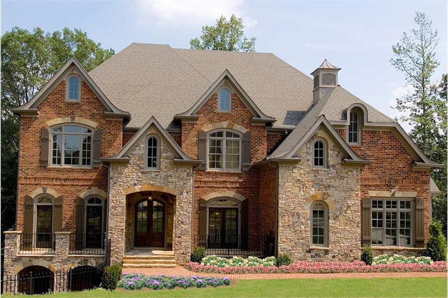 5-Bedroom, 5855 Sq Ft Traditional House Plan - 198-1018 - Front Exterior