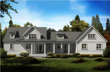 3-Bedroom, 2708 Sq Ft Cottage Home Plan - 198-1019 - Main Exterior