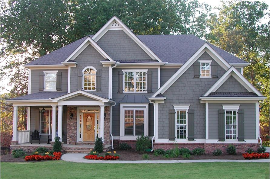 5-Bedroom, 3054 Sq Ft Traditional Home Plan - 198-1020 - Main Exterior