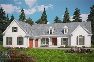 3-Bedroom, 2208 Sq Ft Ranch Home Plan - 198-1027 - Main Exterior