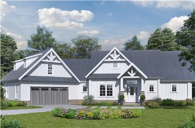 3-Bedroom, 2005 Sq Ft Craftsman House Plan - 198-1028 - Front Exterior