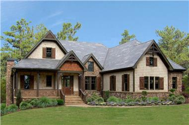 Ranch home (ThePlanCollection: House Plan #198-1031)