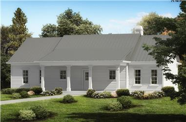 Front elevation of Cottage home (ThePlanCollection: House Plan #198-1033)