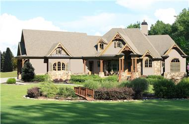 Cottage home plan (ThePlanCollection: House Plan #198-1034)