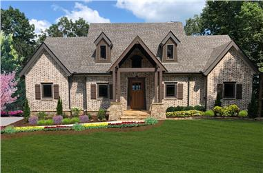 2-Bedroom, 1808 Sq Ft Cottage House Plan - 198-1037 - Front Exterior
