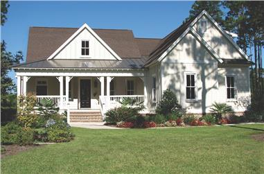 4-Bedroom, 3318 Sq Ft Cottage House - Plan #198-1039 - Front Exterior