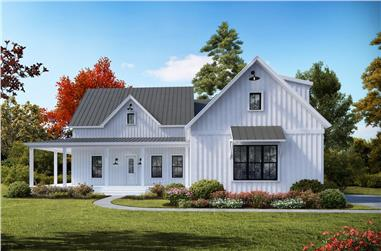 3-Bedroom, 2230 Sq Ft Cottage House Plan - 198-1041 - Front Exterior