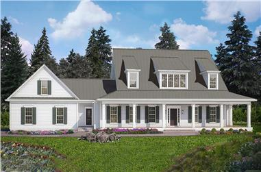 4-Bedroom, 3094 Sq Ft Cottage House Plan - 198-1042 - Front Exterior