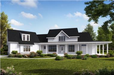 4-Bedroom, 3968 Sq Ft Cottage House Plan - 198-1044 - Front Exterior