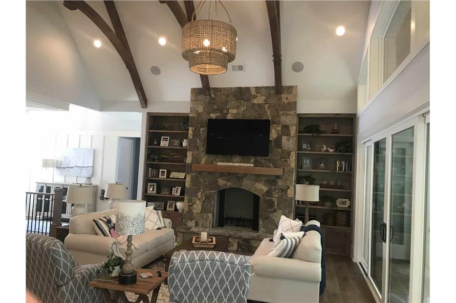 Great Room: Fireplace of this 3-Bedroom,2498 Sq Ft Plan -198-1053