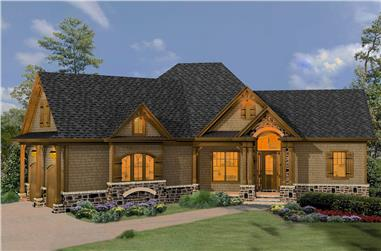 Cottage home (ThePlanCollection: House Plan #198-1056)